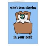 Insectos de cama tarjeta