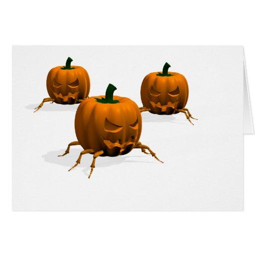 Insectos de Halloween Tarjeta De Felicitación