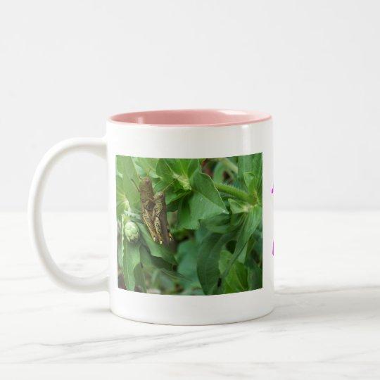 Insectos de la taza/del amor taza de café de dos colores
