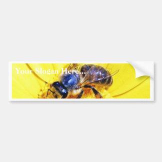 Insectos de las flores de las abejas etiqueta de parachoque