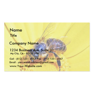 Insectos de las flores de las abejas tarjetas de visita