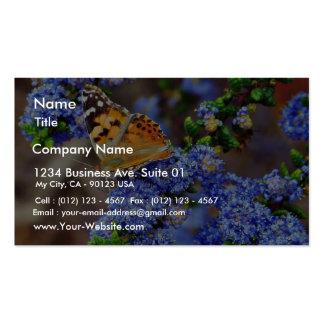 Insectos de las mariposas de la mariposa tarjeta de visita
