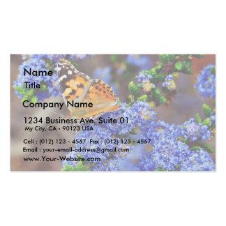 Insectos de las mariposas de la mariposa tarjetas de visita