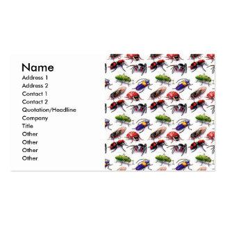insectos de los insectos que se arrastran por tarjeta de visita