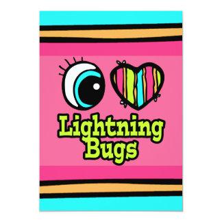 """Insectos de relámpago brillantes del amor del invitación 5"""" x 7"""""""