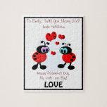 Insectos del amor de la propuesta de matrimonio rompecabezas
