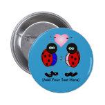 Insectos del amor Pin-En el botón