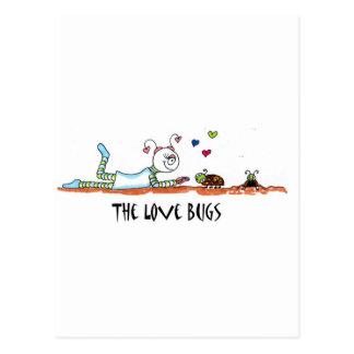 insectos del amor tarjetas postales