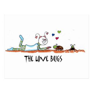 insectos del amor postales
