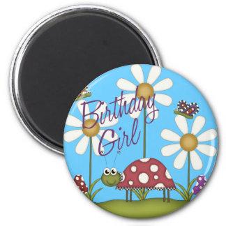 Insectos del cumpleaños del chica imanes