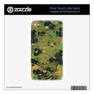 Insectos del lado de la charca de Ito Jakuchu Calcomanía Para iPod Touch 4G