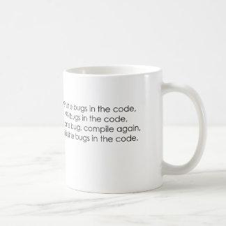 Insectos en la taza del código