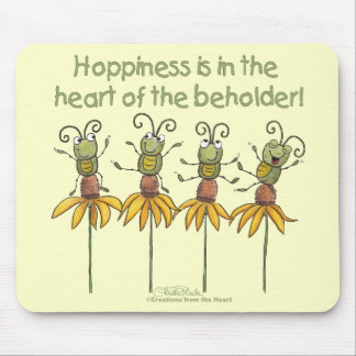 Insectos en las flores tapete de ratones