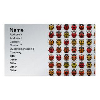 Insectos, insectos, insectos - modelo de los tarjetas de visita
