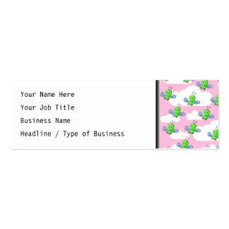 Insectos lindos felices y cielo rosado tarjetas de visita mini