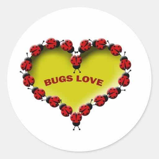 Insectos Love.png Pegatina Redonda