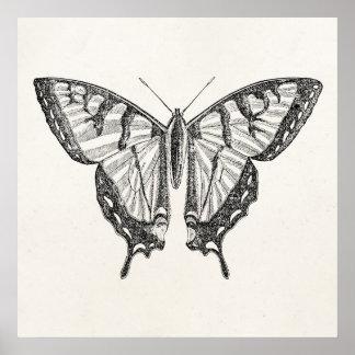 Insectos personalizados mariposa de las mariposas impresiones
