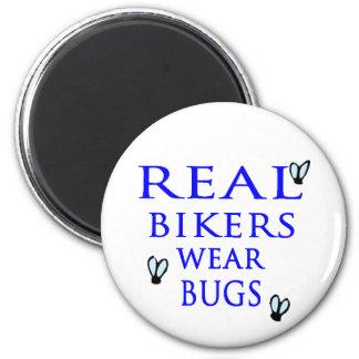 Insectos reales del desgaste de los motoristas iman para frigorífico