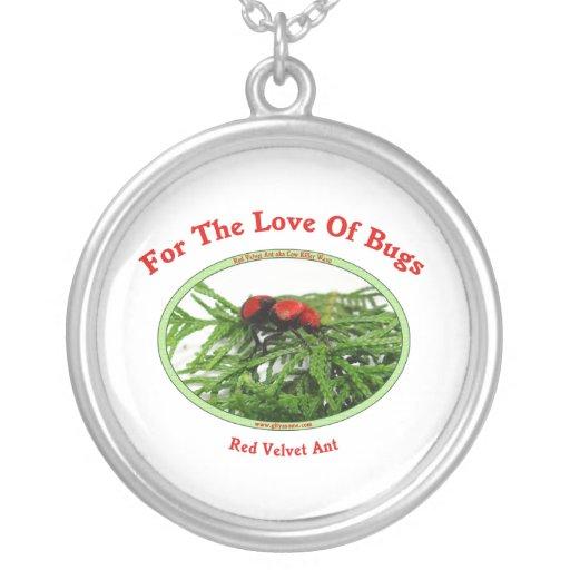 Insectos rojos del amor de la hormiga del colgante redondo