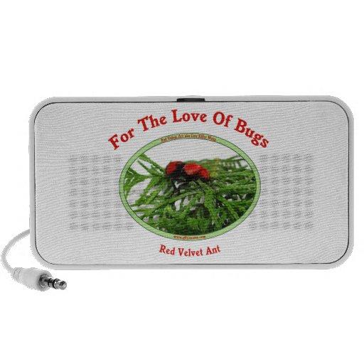 Insectos rojos del amor de la hormiga del terciope mini altavoces