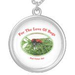 Insectos rojos del amor de la hormiga del terciope colgante personalizado