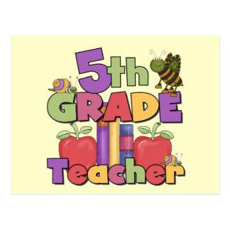 Insectos y 5to profesor del grado de las manzanas tarjeta postal