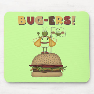 Insectos y camisetas y regalos de las hamburguesas tapetes de ratones