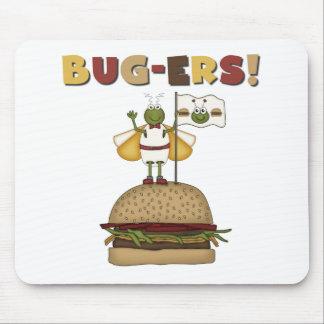 Insectos y camisetas y regalos de las hamburguesas tapete de raton