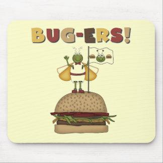 Insectos y camisetas y regalos de las hamburguesas alfombrillas de raton