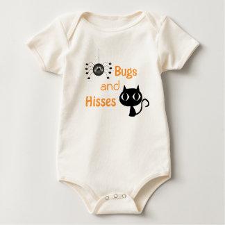 Insectos y enredadera del niño de Halloween de los Body Para Bebé