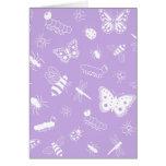Insectos y mariposas blancos (parte posterior del tarjetas