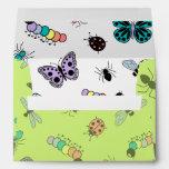 Insectos y mariposas coloridos (parte posterior de