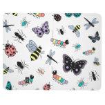 Insectos y mariposas lindos del vector cuaderno