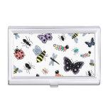 Insectos y mariposas lindos del vector caja de tarjetas de negocios