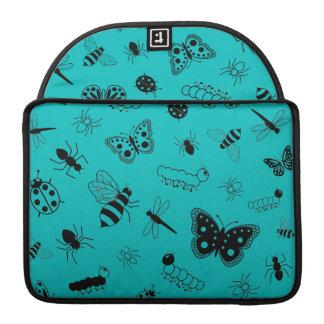 Insectos y mariposas lindos (fondo del vector del fundas para macbook pro
