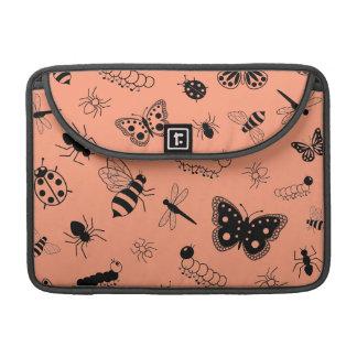 Insectos y mariposas lindos (naranja del vector de funda para macbooks