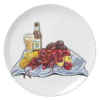 Insectos y placa del Brew Plato De Comida