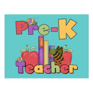 Insectos y profesor de Pre-K de las manzanas Postales