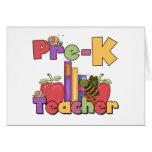 Insectos y profesor de Pre-K de las manzanas Tarjeton