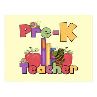 Insectos y profesor de Pre-K de las manzanas Tarjeta Postal