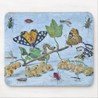 Insects and Berries Mouse Mats