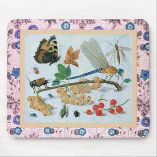 Insects and Berries Mousemat