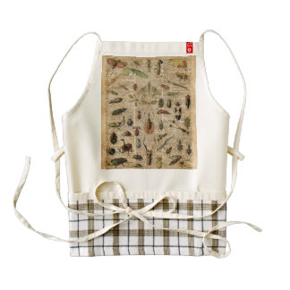 Insects Bugs Vintage Illustration Dictionary Art Zazzle HEART Apron