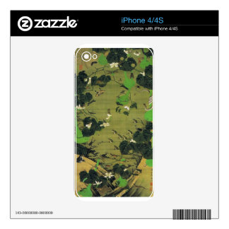 Insects by Pond Side by Ito Jakuchu Skins For iPhone 4