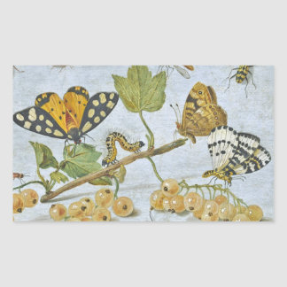 Insects Crawling Rectangular Sticker