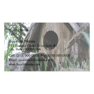 Insect's eye view of wooden bird house Double-Sided standard business cards (Pack of 100)