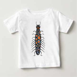 Insects fun cool graphic big blue Bug Baby T-Shirt