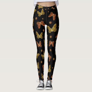 Insects Motif Pattern Leggings