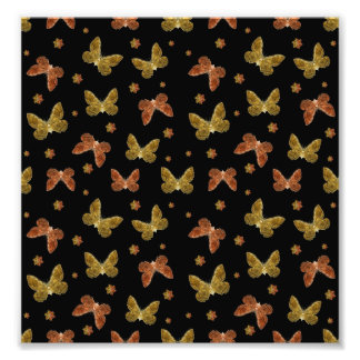 Insects Motif Pattern Photo Print