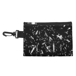 Insects on black accessory bag